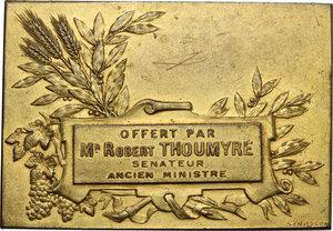 reverse: Robert Thoumyre (1883-1947), senatore.. Placca rettangolare, inizio XX sec