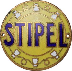 obverse: STIPEL - Società telefonica interregionale piemontese e lombarda. Distintivo pubblicitario, prima metà XX sec