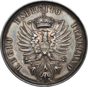 obverse: Medaglia del Regio Esercito Italiano per la Gara di stima delle distanze, inizi XX sec