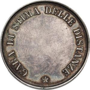 reverse: Medaglia del Regio Esercito Italiano per la Gara di stima delle distanze, inizi XX sec
