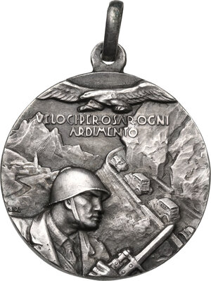 obverse: 115° Reggimento Fanteria Motorizzato Treviso. Medaglia portativa, prima metà XX sec