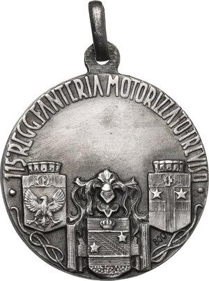reverse: 115° Reggimento Fanteria Motorizzato Treviso. Medaglia portativa, prima metà XX sec