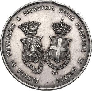 obverse: Camera di Commercio e Industria di Arezzo.. Medaglia premio per la Prima coppa del fascio di Moncioni