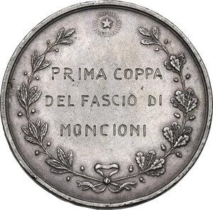 reverse: Camera di Commercio e Industria di Arezzo.. Medaglia premio per la Prima coppa del fascio di Moncioni