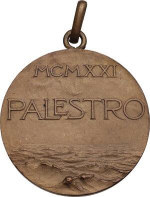 reverse: Mesdaglia 1921 Regia Nave Palestro