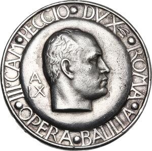obverse: Spilla A. IX per il III CAMPEGGIO DVX ROMA .OPERA BALILLA