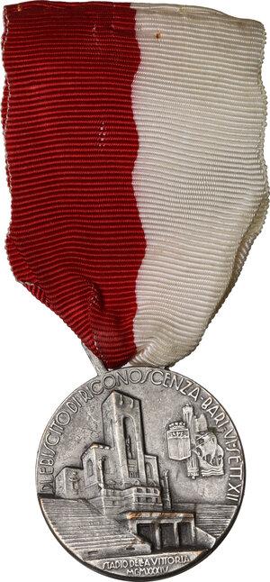 reverse: Medaglia 1934, A. XII per lo Stadio della Vittoria di Bari