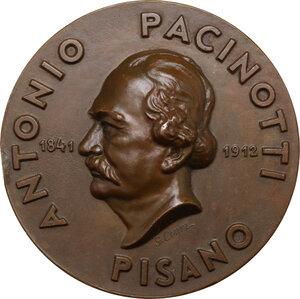 obverse: Antonio Pacinotti (1841-1912), scienziato.. Medaglia A. XII, Onoranze Nazionali