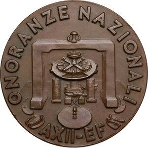 reverse: Antonio Pacinotti (1841-1912), scienziato.. Medaglia A. XII, Onoranze Nazionali