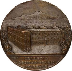 obverse: Collegio Agostino Pennisi di Acireale. Medaglia celebrativa 1938 a ricordo del cinquantesimo anno di fondazione