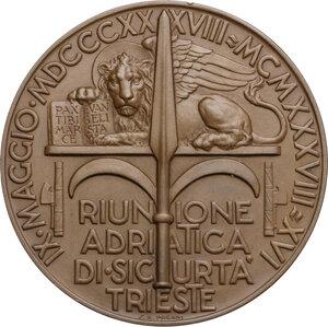 reverse: Medaglia A. XVI, 1938 per il centesimo anniversario della RAS (Riunione Adriatica di Sicurtà)
