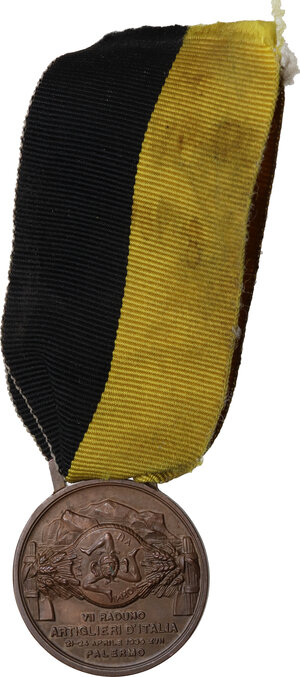 obverse: Medaglia 1939, A. XVII per il VII Raduno artiglieri d Italia, Palermo