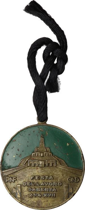 obverse: Medaglia A. XVII. Festa del Lavoro, PNF OND Caserta