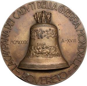 obverse: Medaglia 1939, A. XVIII, Campana ai caduti della Guerra Mondiale