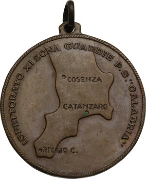 reverse: Medaglietta Ispettorato XI zona guardie P. S.