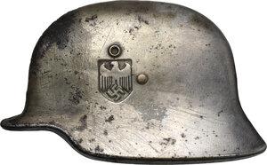 obverse: Spilla HEER a forma di elmetto tedesco, decorazione per album fotografico