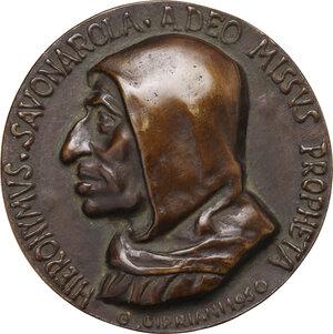 obverse: Girolamo Savonarola (1452-1498). Medaglia commemorativa, 1950