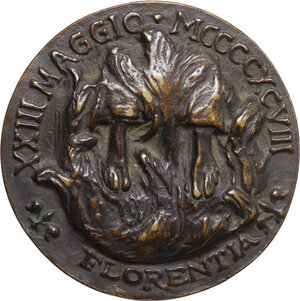 reverse: Girolamo Savonarola (1452-1498). Medaglia commemorativa, 1950
