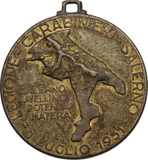 obverse: Legione Carabinieri Salerno. Medaglia portativa 1 Luglio 1951