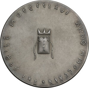 reverse: Dante Alighieri (1265-1321). Medaglia per il VII centenario della nascita di Dante e i 2719 anni dalla Fondazione di Roma
