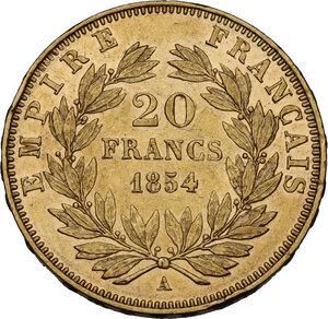 France.  Napoleon III (1852-1870).. 20 Francs 1854 A, Paris mint
