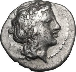 obverse: Southern Apulia, Neapolis.  AR Triobol, c.300-275 BC