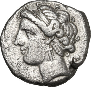 obverse: Central and Southern Campania, Neapolis. AR Didrachm, c. 275-250 BC