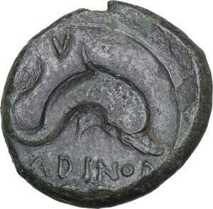 reverse: Eastern Italy, Larinum. AE Sextans, 250-225 BC