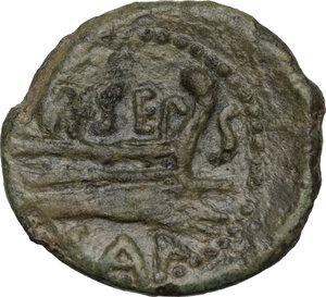 reverse: Carteia. AE Semis, 1st century BC