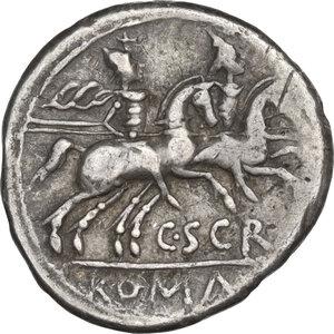 C. Scribonius.. AR Denarius, 154 BC