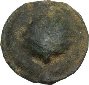 obverse: Northern Apulia, Luceria. AE Biunx, c. 217-212 BC