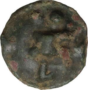 reverse: Northern Apulia, Luceria. AE Biunx, c. 217-212 BC
