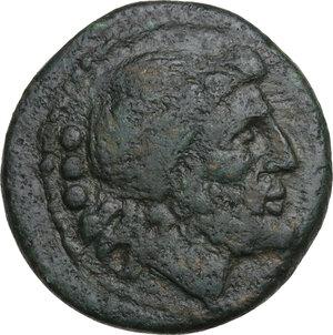 obverse: Northern Apulia, Luceria. AE Teruncius, c. 211-200 BC