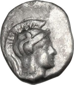 obverse: Northern Apulia, Teate. AR Diobol, c. 325-275 BC