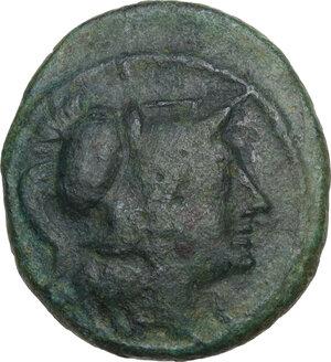 obverse: Northern Apulia, Teate. AE Teruncius, c. 225-200 BC