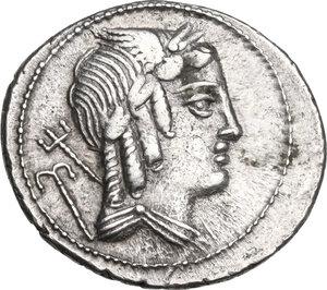 L. Julius Bursio.. AR Denarius, 85 BC