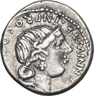 C. Annius with C. Tarquitius. AR Denarius, 82-81 BC