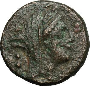 obverse: Northern Apulia, Teate. AE Biunx, c. 225-200 BC