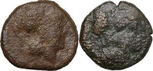 obverse: Northern Apulia, Teate. Lot of 2 AE Biunces, 225-200 BC