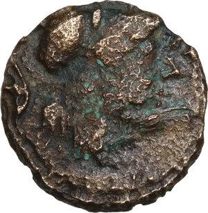 obverse: Southern Apulia, Caelia. AE Semuncia, c. 220-150 BC
