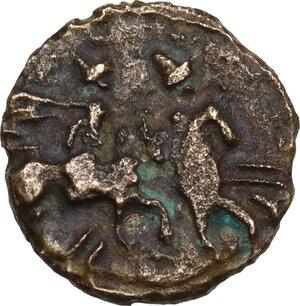 reverse: Southern Apulia, Caelia. AE Semuncia, c. 220-150 BC