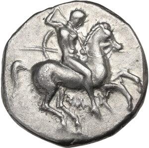 obverse: Southern Apulia, Tarentum. AR Nomos, c. 325-281 BC