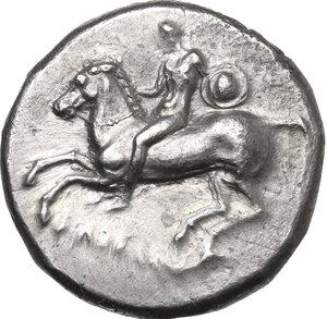 obverse: Southern Apulia, Tarentum. AR Nomos, c. 281-270 BC