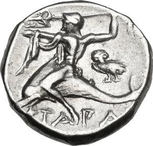 reverse: Southern Apulia, Tarentum. AR Nomos, c. 272-240 BC