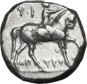 obverse: Southern Apulia, Tarentum. AR Nomos, 272-240 BC