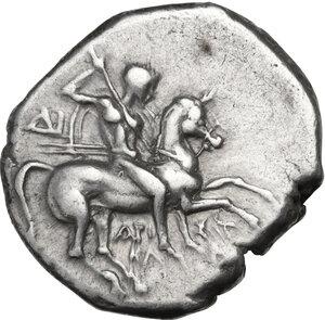 obverse: Southern Apulia, Tarentum. AR Nomos c. 272-240 BC