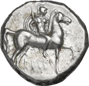 obverse: Southern Apulia, Tarentum. AR Nomos, c. 281-240 BC