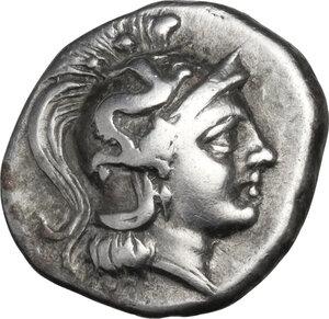 obverse: Southern Apulia, Tarentum. AR Drachm, c. 272-240 BC