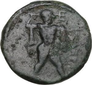 obverse: Northern Lucania, Posidonia. AE 12.5 mm. c. 420 -390 BC