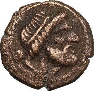 obverse: Northern Lucania, Paestum. AE Uncia,  Second Punic War. 218-201 BC